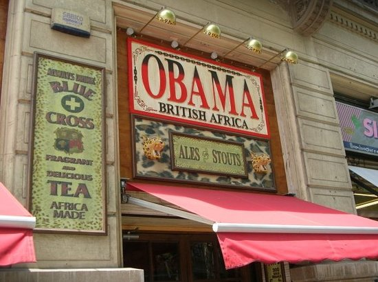 That's right the Obama bar & restaurant...no, no relation to our president. But cool name and pl