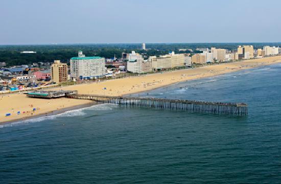 Virginia Beach Oceanfront Photo By Tim Rudziensky