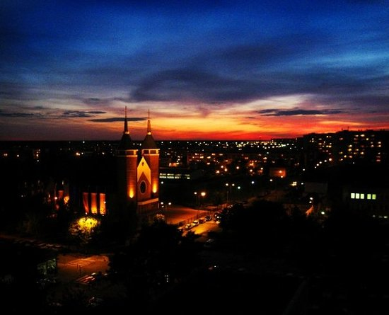 Bydgoszcz, Polandia: spectacular sunset from my window's view