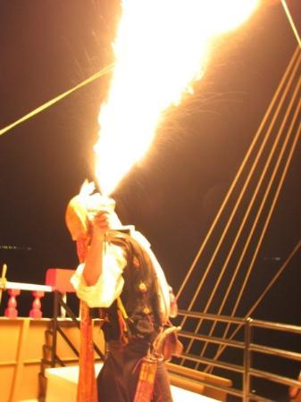 Port Isabel, TX: 5/22/09 - Black Dragon Pirate Cruise - Fire Breathing Pirate