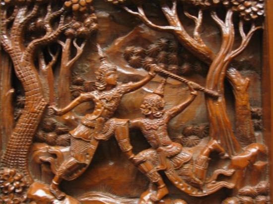 Chiang Mai, Thailand Bo Sang - teak wood furniture carving