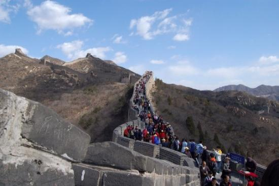 Luanping County, China: the great wall - up to the top