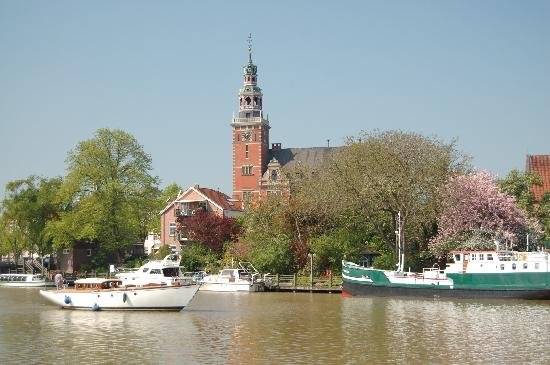 Leer, Germany: The Town Hall from the harbour