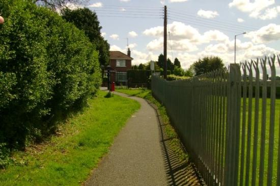 Portadown, UK: the lane that leads to the main road