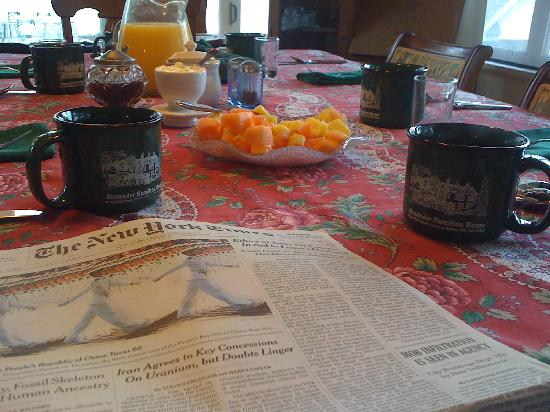Alexander Hamilton House: Frühstück