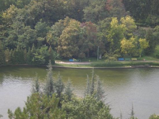 Sandanski, Bulgarien: Езерото в Сандански - поглед от високо
