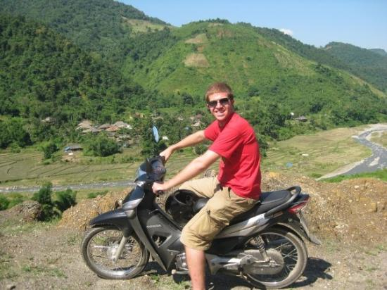 Lai Chau, Vietnam: Mike in the hills of Muoung Lai