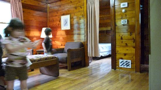 Holiday World & Splashin' Safari: Lincoln Park Cabin Living Room