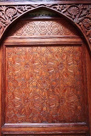 Riad Sara: detail of doorway