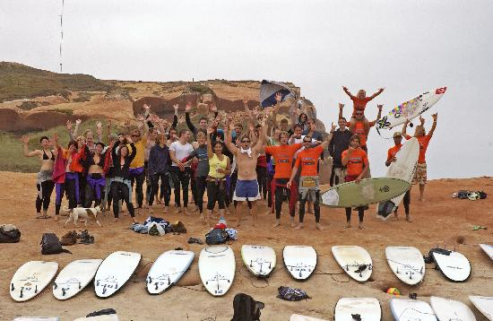 Baleal Surf Camp class at Red Rocks