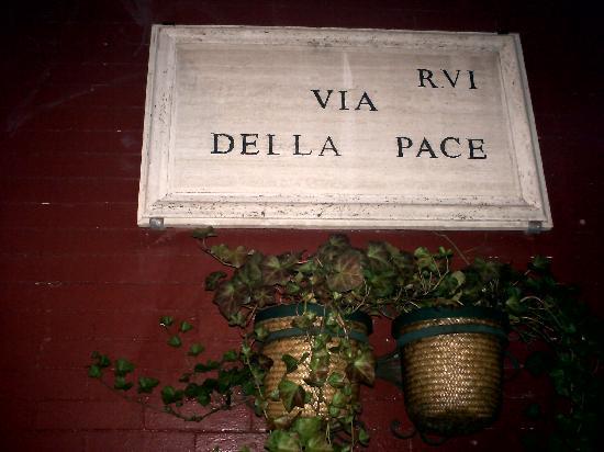 Via Della Pace: insegna originale