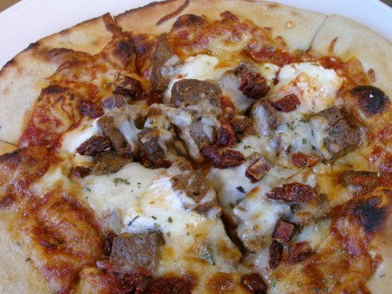 Blossom: Lamb sausage-feta cheese pizza