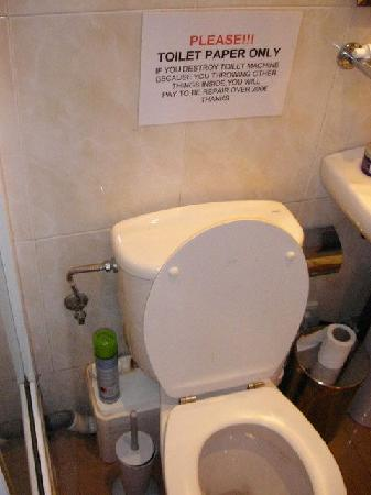Hostal Absolut Centro: toilet with loud machine