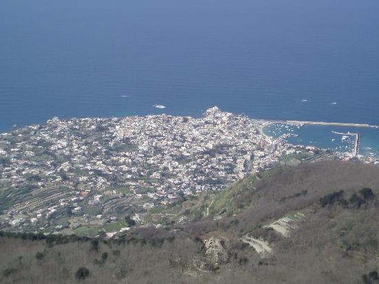 panorama dal monte Epomeo verso Forio d'Ischia