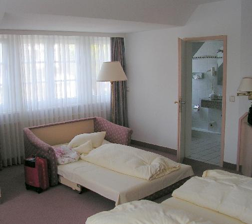 Hotel Friesenhof : Zimmer mit drittem Bett