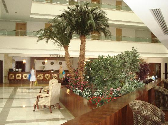 Saphir Resort & Spa: Die Hotel-Lobby mit Rezeption