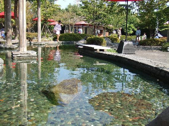 Oedo-Onsen-Monogatari : Outdoor footbath in a beautiful garden
