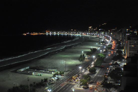 Rio de Janeiro, RJ: Copacabana beach at night