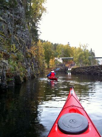 Kayaking at the Telemark Canal
