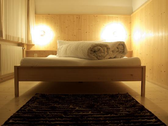 """Hotel Alpina Vals: Our bed in one of the """"new rooms"""""""