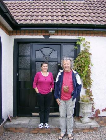 Number 10 B&B: Saying goodbye to our hostess of no.10 University Park, Coleraine, Co. Londonderry.