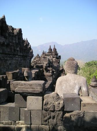 Borobudur buddha and terrace central java indonesia for Terrace yogyakarta