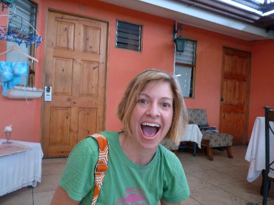 Green House Hostel: Here I am outside my room shocked because the 4 year old took a good photo of me!