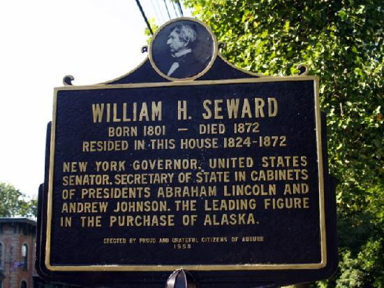 Seward House Museum: info sign