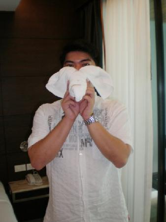 Aree Tara Resort: cute towel