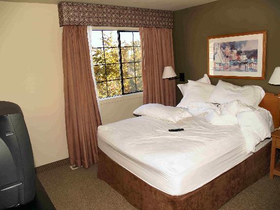 Hawthorn Suites by Wyndham Kent/Sea-Tac Airport : Downstairs bedroom