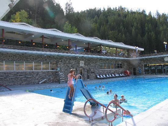Radium Hot Springs..Cold pool.