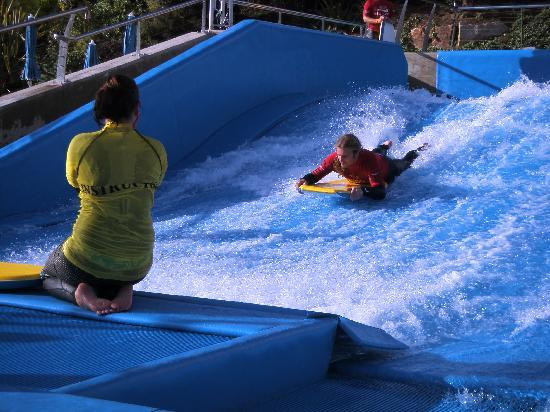 Merton Hotel: The FlowRider at Merton - the only one in the UK and for hotel guests only!