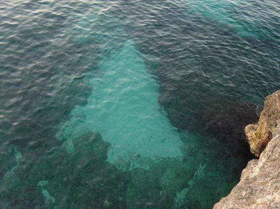 Blue Cave Castle: The ocean directly from our balcony..beauty awaited us directly below