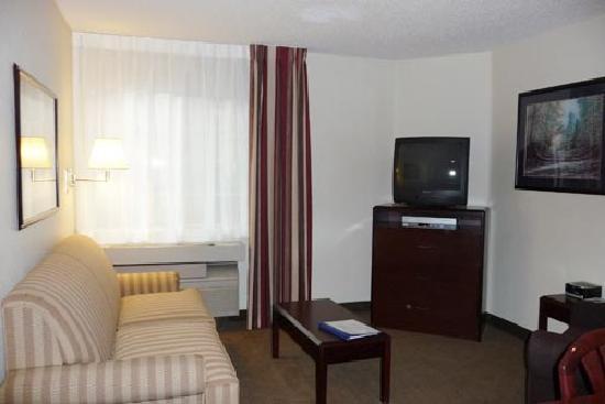 One Bedroom Suite Living Room Picture Of Candlewood Suites Las Vegas Las Vegas Tripadvisor