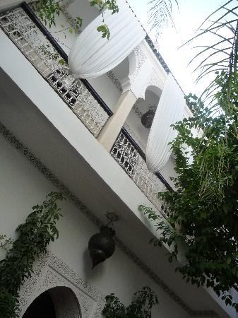 Riad Aguerzame: Looking up from the living area