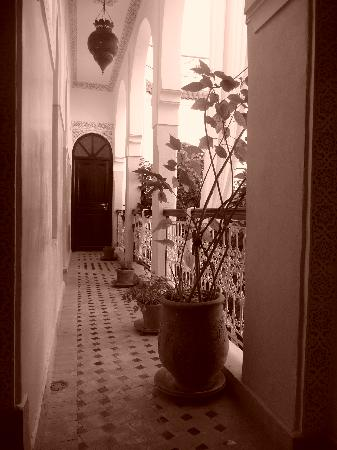 Riad Aguerzame: Upstairs from the balcony