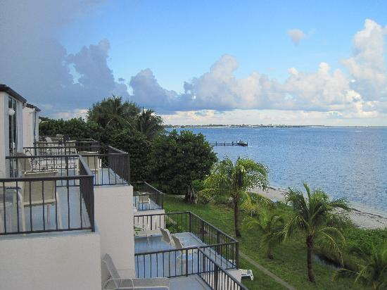 Lighthouse Resort & Club: Looking west over the unit balconies