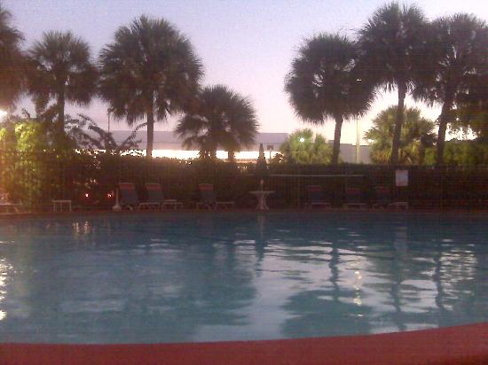 Miami Springs, FL: view from poolside