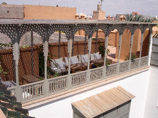 Zaouia 44: pour les petits déj, cette terrasse est merveilleuse !