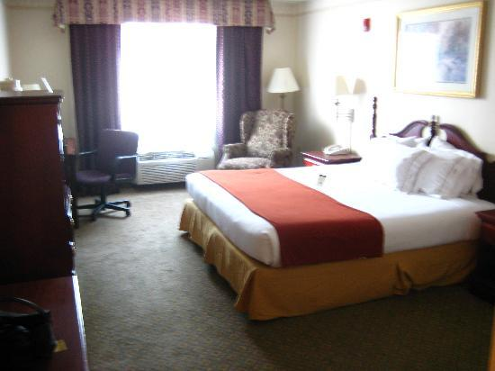 Holiday Inn Express Hotel & Suites West Point : rooooomy bedroom