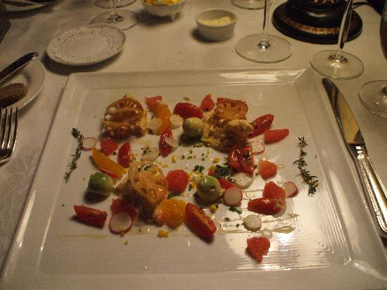 Inn at Little Washington: first course: lobster salad