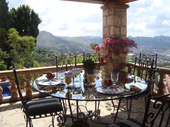 Casa Estrella de la Valenciana: Breakfast with view :)