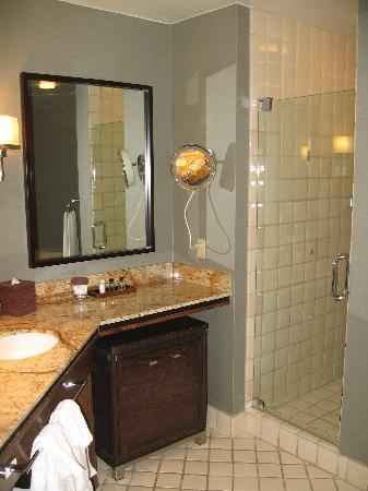 Large bathroom with double sinks and large shower stall - Picture of ...