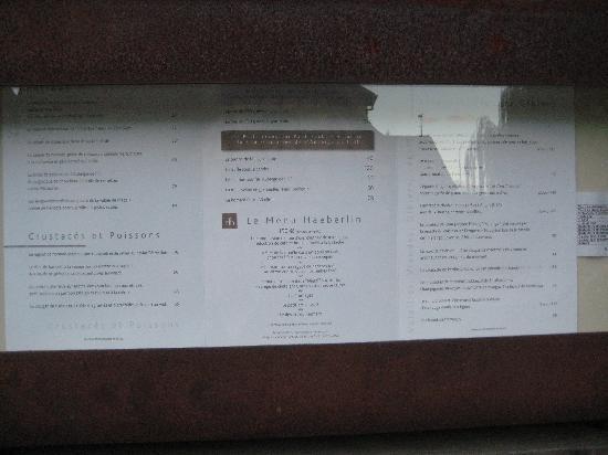 L'Auberge de l'Ill : Speisekarte
