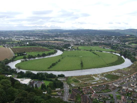 National Wallace Monument: View from the top of Wallace Monument,Stirling,Scotland.