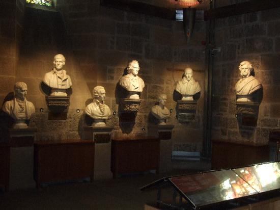 National Wallace Monument: Hall of Heroes,Wallace Monument,Stirling,Scotland.