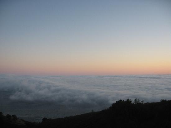 Post Ranch Inn: Blick vom Balkon der Suite auf den Pazifik nach Sonnenuntergang