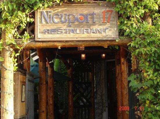 Nieuport  Restaurant Tustin Ca Menu