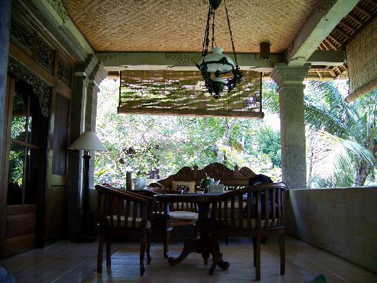 Alam Jiwa: our veranda in the casuary room