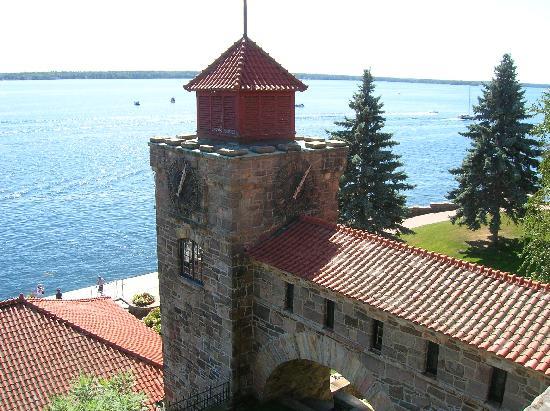Singer Castle on Dark Island: the clock tower